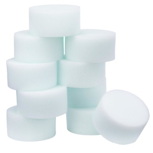 Stack of Snazaroo high-density sponges