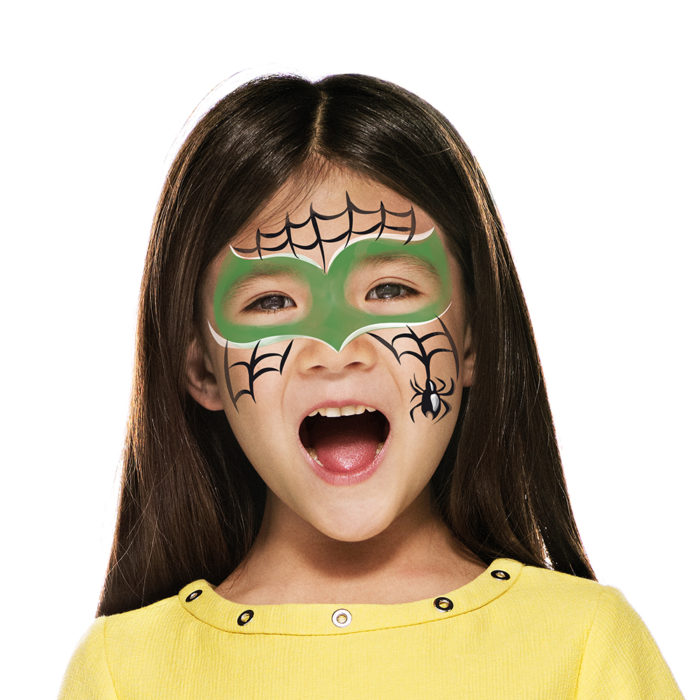 girl with Green Spider paint design