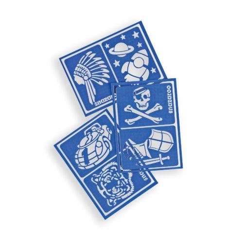 Snazaroo Blue Adventure Stencils pack of 3