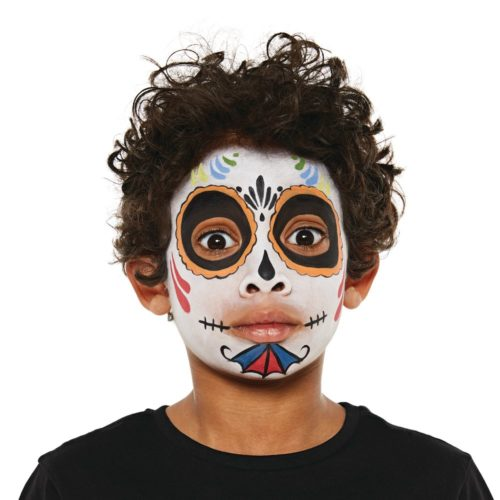 Boy with Sugar Skull face paint design