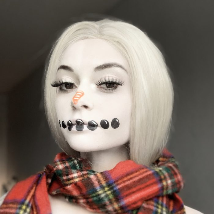 girl with Frosty Snowman paint design