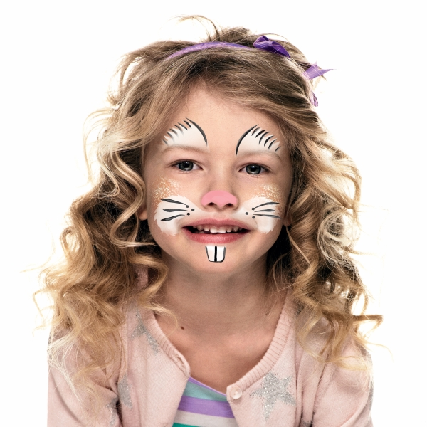 Girl with Bunny face paint design