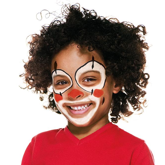 Boy with Clown face paint design