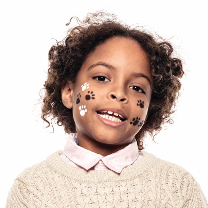 Boy with Paws face paint design