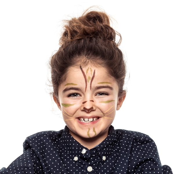 girl with Tigress face paint design