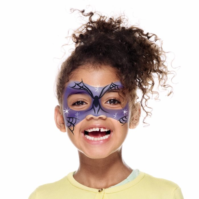 girl with Witch face paint design