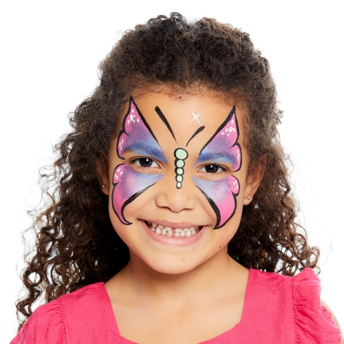 girl with Butterfly face paint design