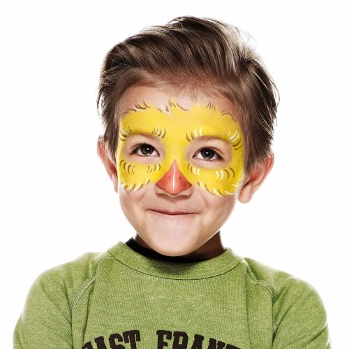 boy with Chick face paint design