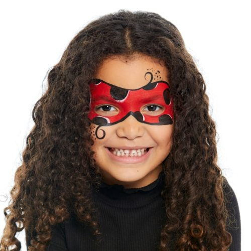 girl with Ladybird face paint design