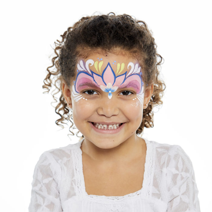 girl with Princess face paint design
