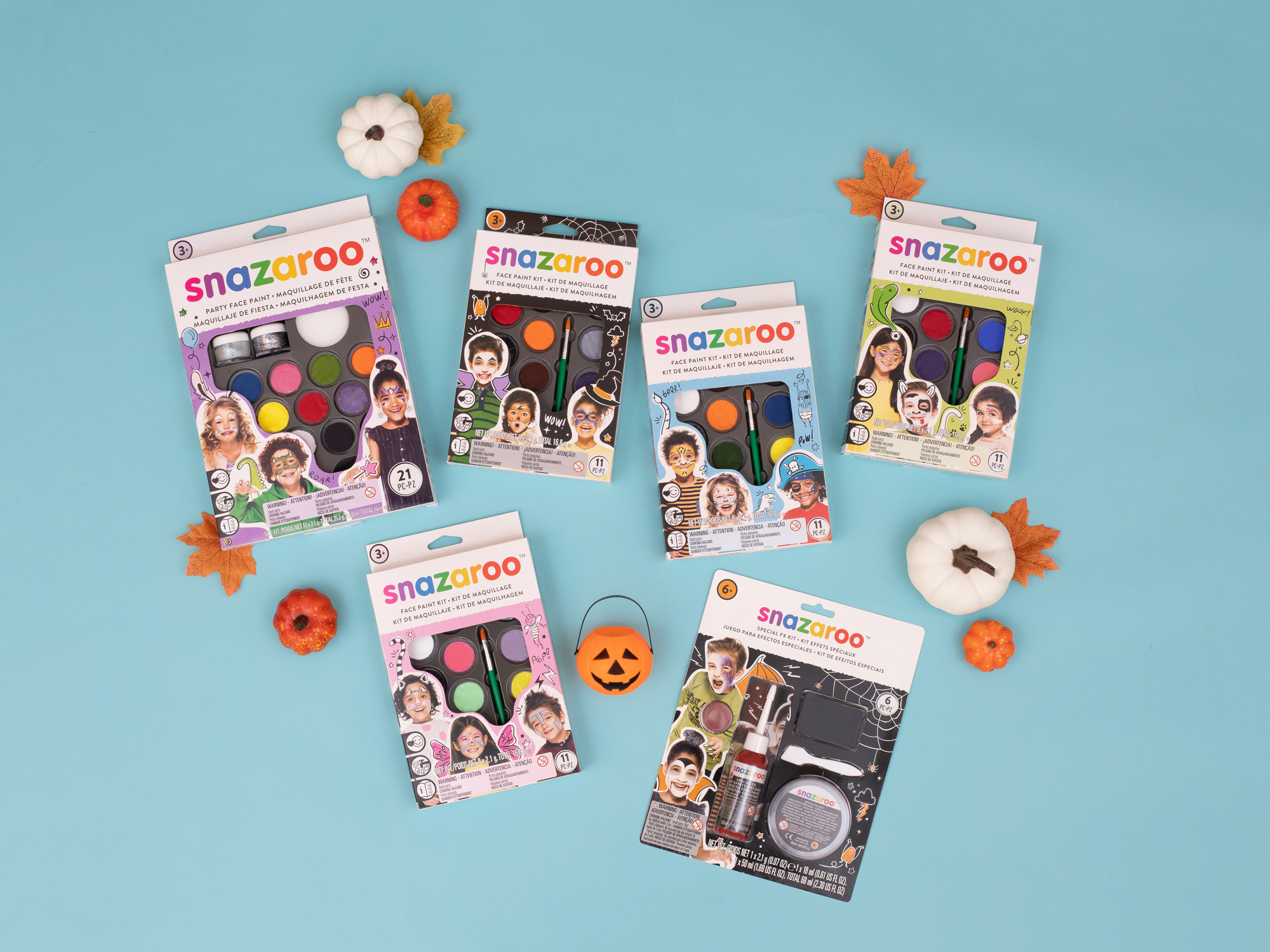 Image of a collection of Snazaroo Kits