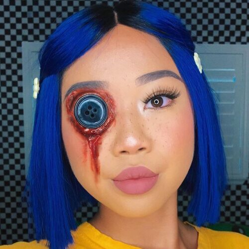 Coraline movie face paint look