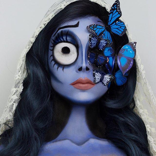 Corpse Bride face paint look
