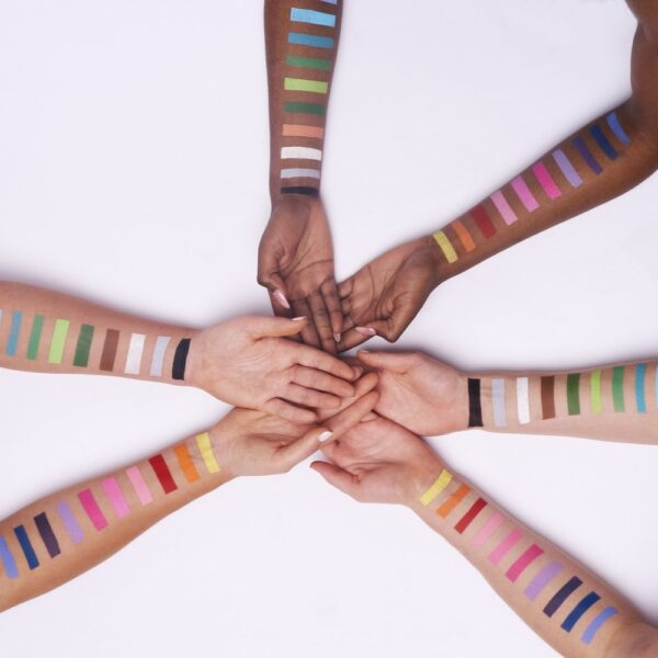 Face paint arm swatches for the Custom Palette