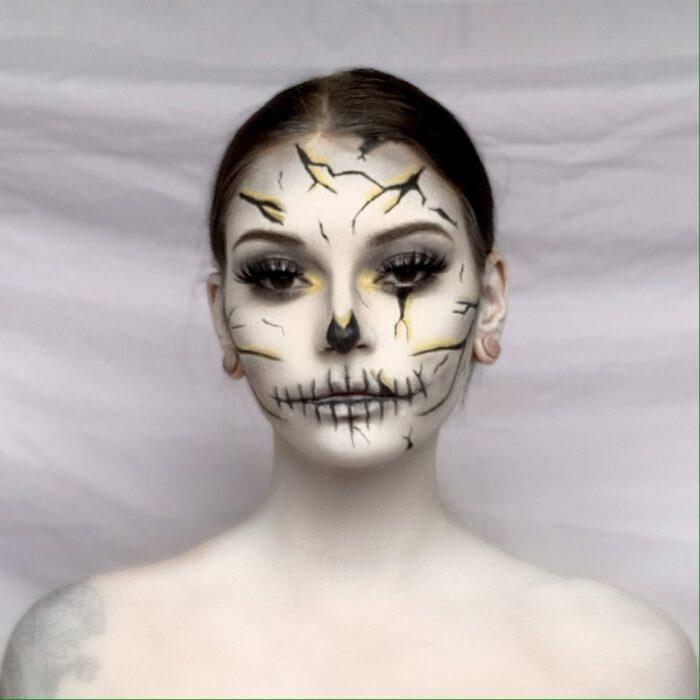 step 3 of Halloween Skull Makeup Design
