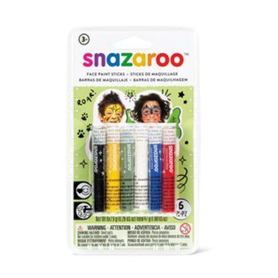 Rainbow face paint sticks pack