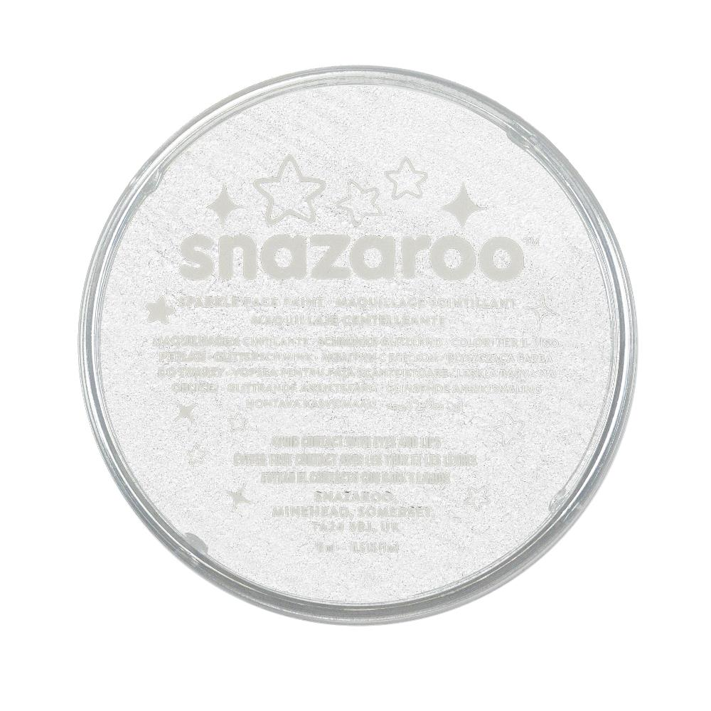 Snazaroo Sparkle Face Paint - Sparkle White, 18ml