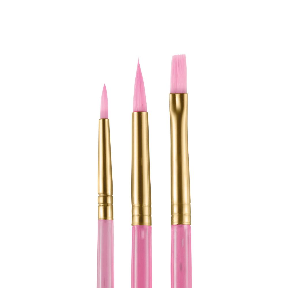 pink face painting brushes