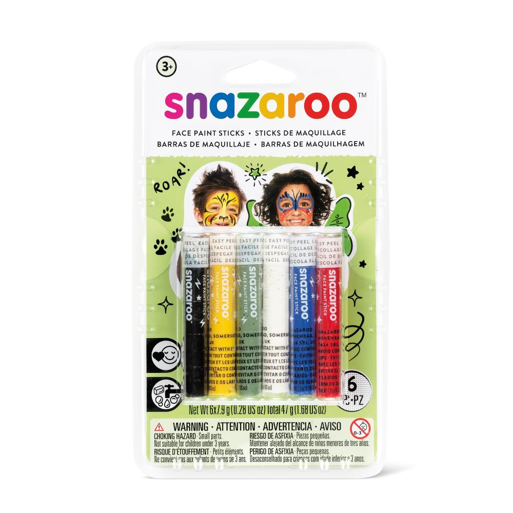 Rainbow face paint sticks pack