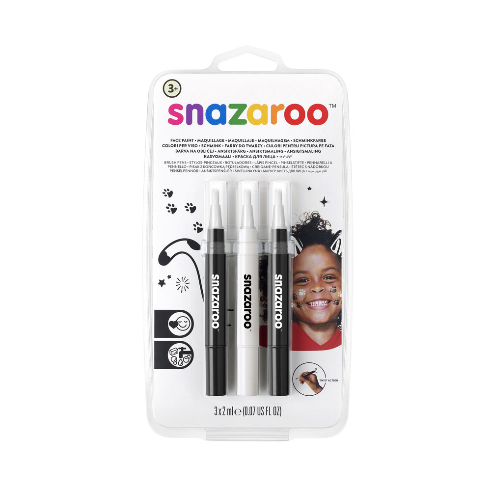 Pack of Monochrome face paint pens