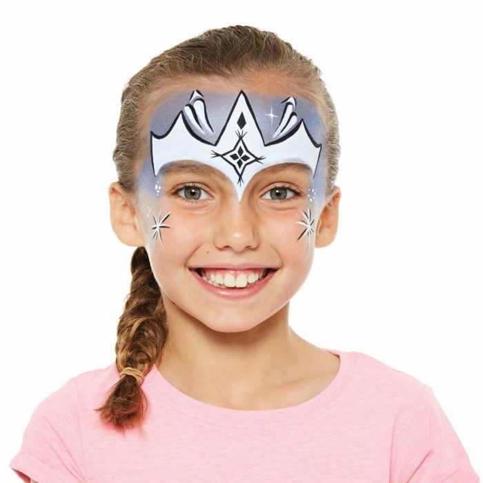 girl with Ice Princess face paint design