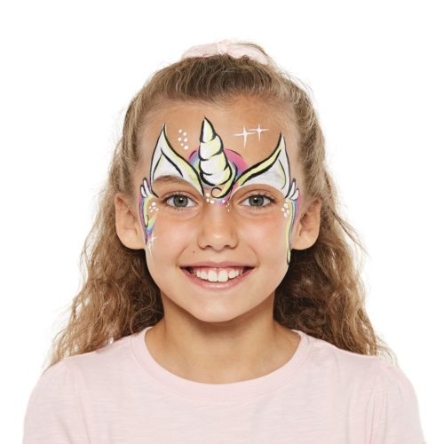 girl with Unicorn face paint design