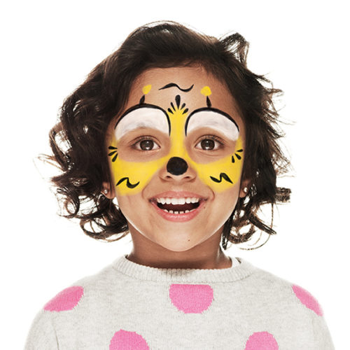 girl with Bee face paint design