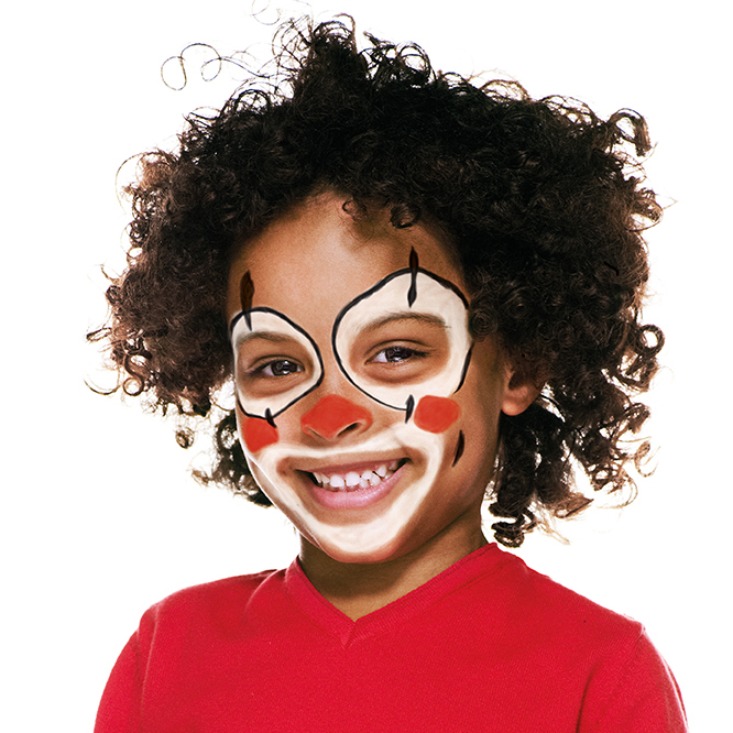Boy with Clown face paint design
