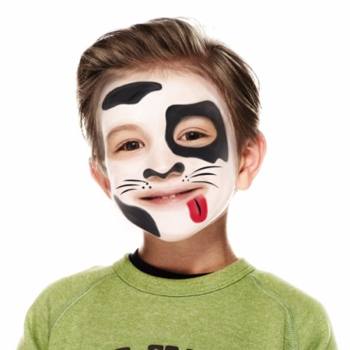 Boy with Dog face paint design