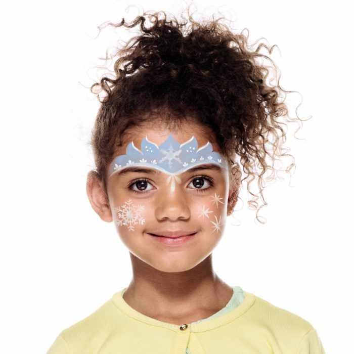 girl with Ice Fairy face paint design