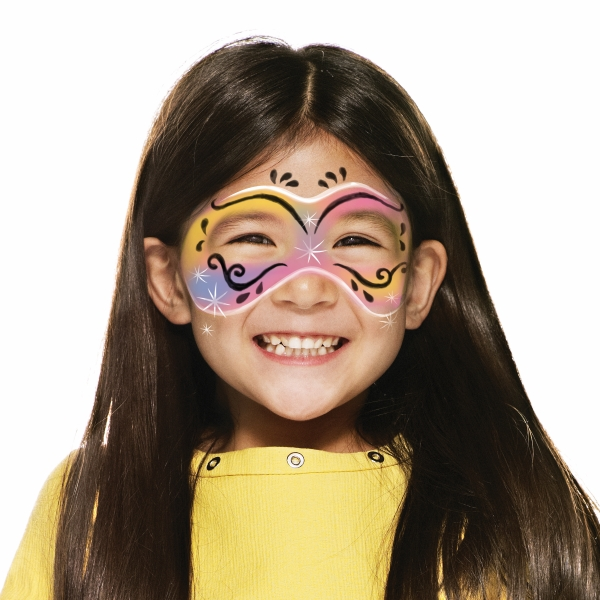 girl with Carnival Mask face paint design