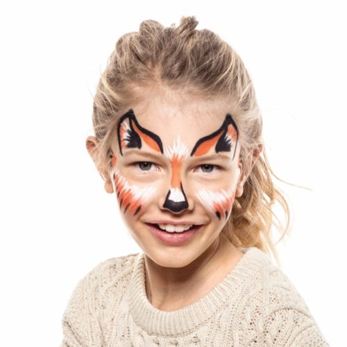 girl with Fox face paint design
