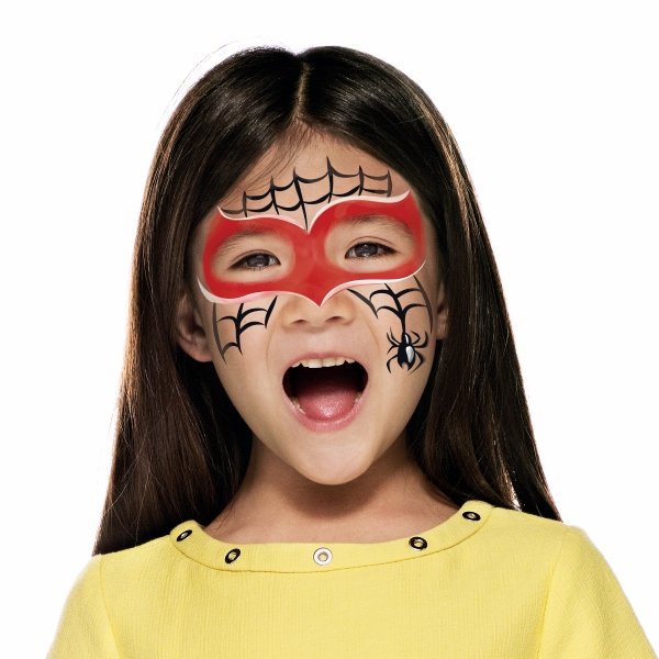 girl with Red Spider paint design