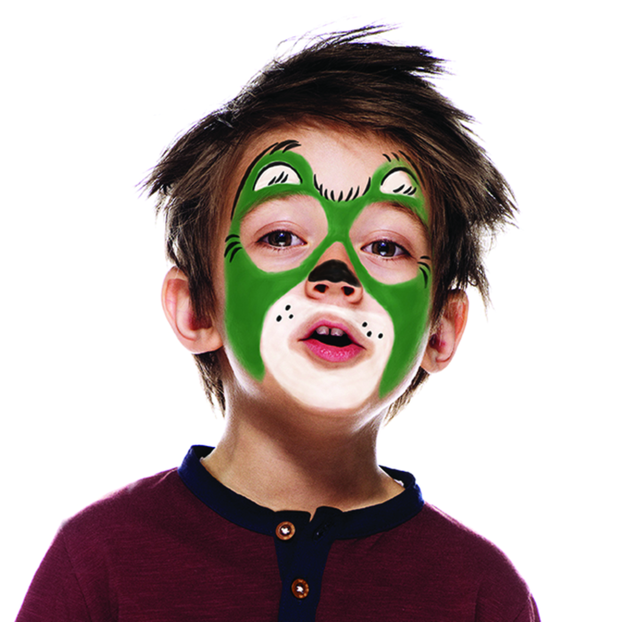 Boy with Bear face paint design