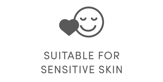 Suitable for sensitive skin icon