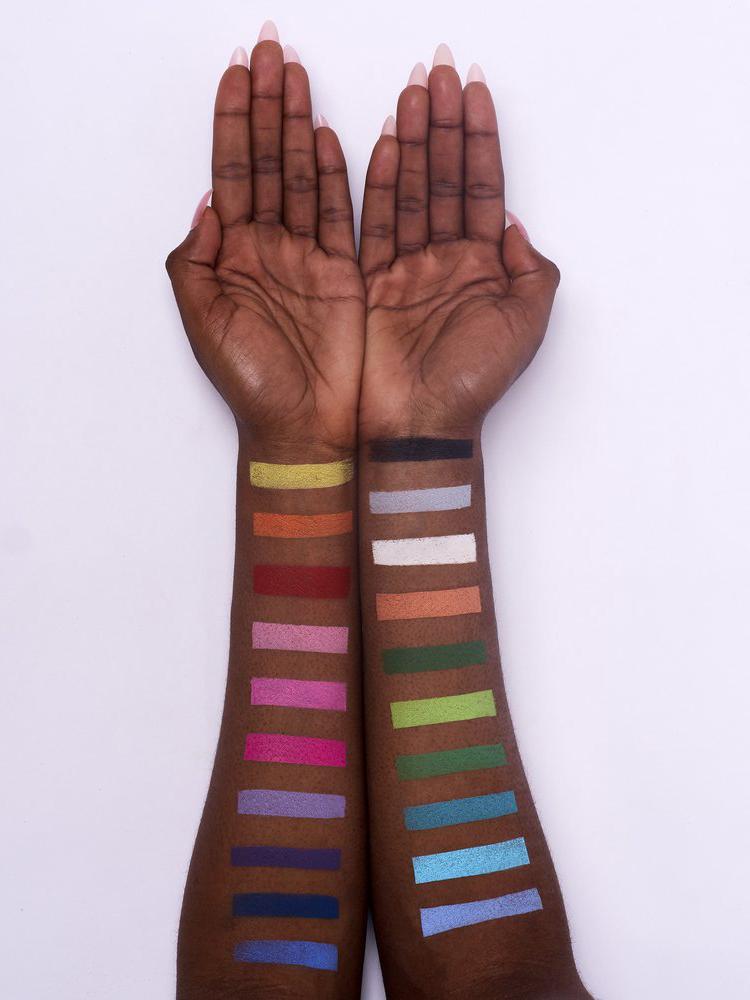 Snazaroo face paint on brown skin
