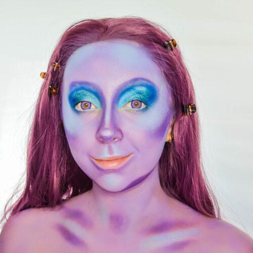 Step 1 of Mermaid Makeup Tutorial