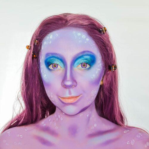 Step 2 of mermaid makeup tutorial