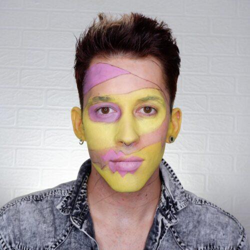 Step 1 of Pop Art Zombie Makeup Design