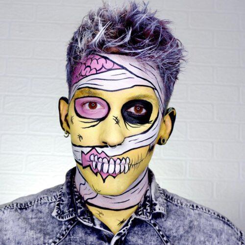 Pop Art Zombie Makeup Idea