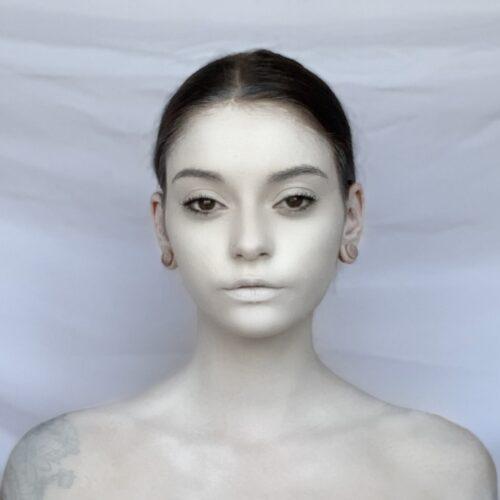 step 1 Cracked Skull Makeup Design