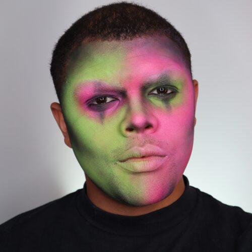 Step 1 of Neon Skull Makeup Design