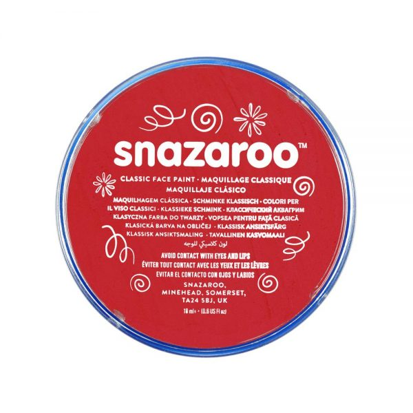 Snazaroo Classic Face Paint - Bright Red, 18ml