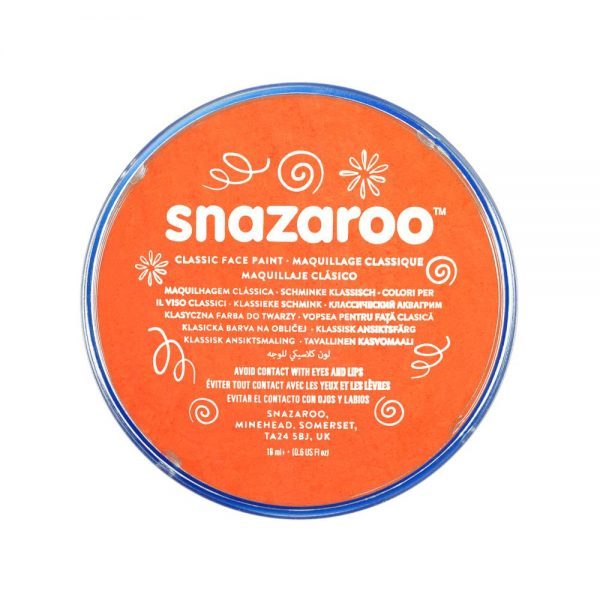 Snazaroo Classic Face Paint - Orange, 18ml