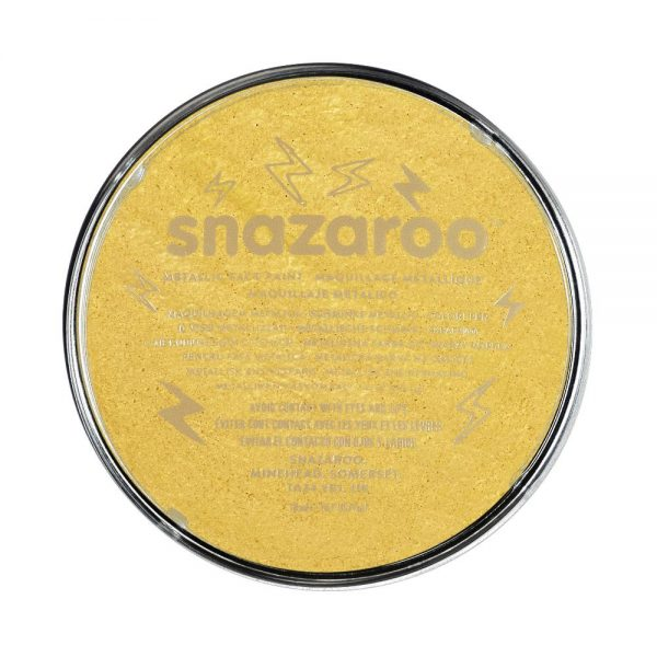 Snazaroo Metallic Face Paint - Electric Gold, 18ml